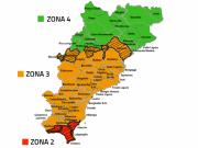 Mappa Zonizzazione dei Comuni Provincia di Savona