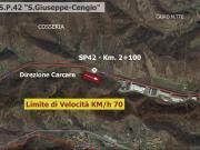 SP 42 - Comune di COSSERIA - Km. 2+100