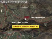 SP 42 - Comune di COSSERIA - Km. 3+987