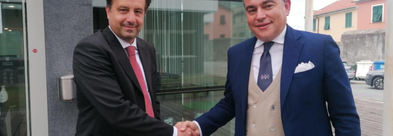 Il Presidente della Provincia di Savona, Pierangelo Olivieri, e il Sindaco di Savona, Marco Russo