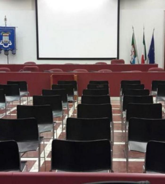 Sala consiliare del Palazzo della Provincia di via Sormano