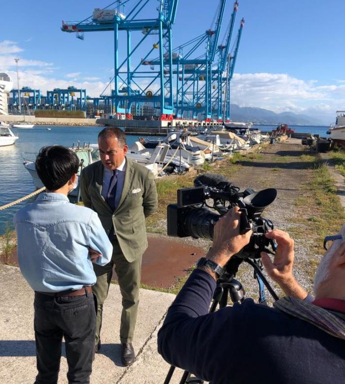 Intervista della China Central Television al Presidente della Provincia di Savona Pierangelo Olivieri