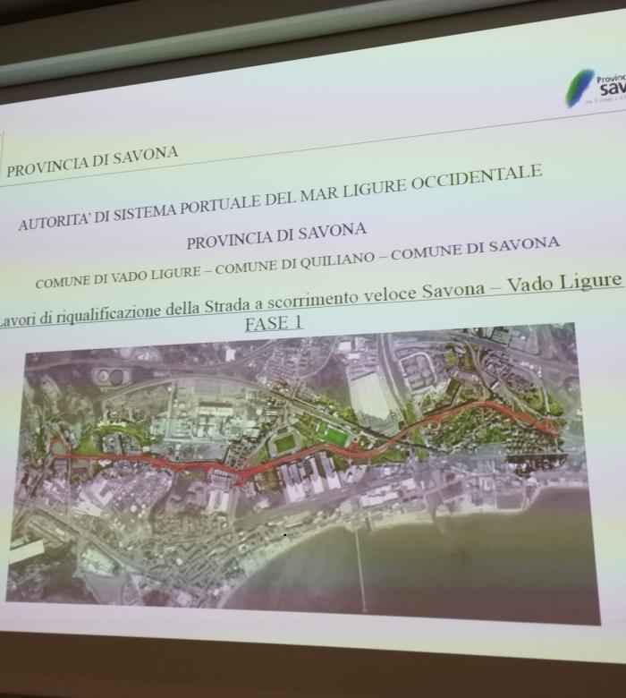 Lavori di riqualificazione della Strada Scorrimento Veloce Savona-Vado Ligure