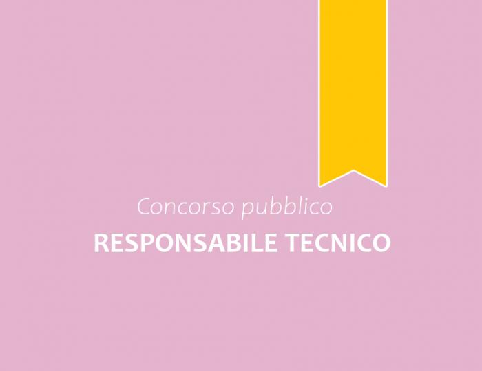 Concorso pubblico n.2 Responsabili Tecnici