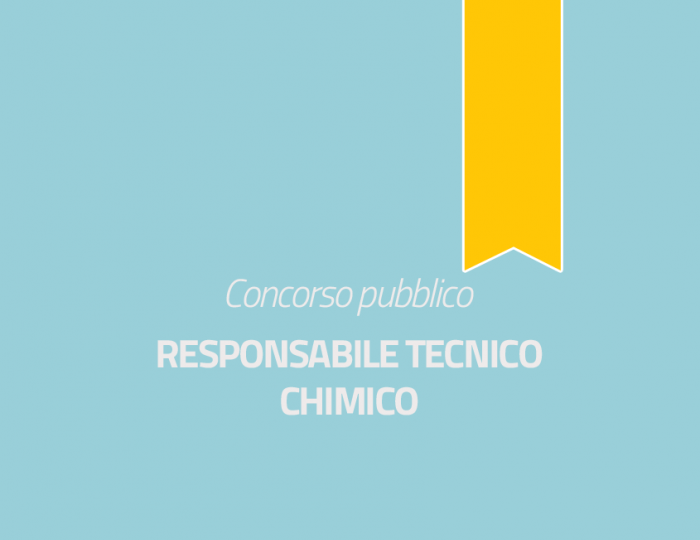 Responsabile Tecnico - Chimico - Cat. D