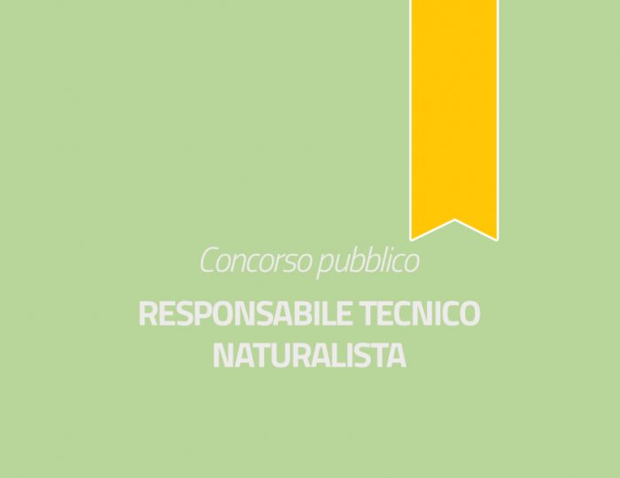 Responsabile Tecnico - Naturalista - Cat. D