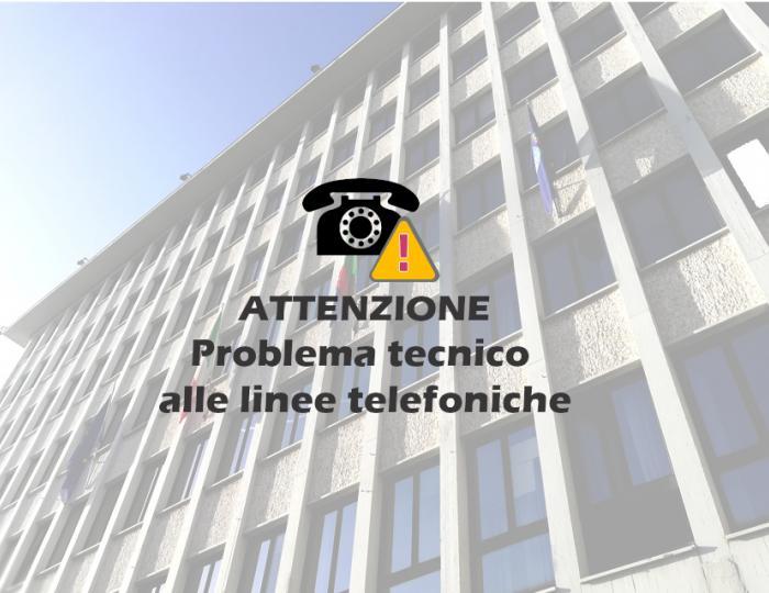 Problema tecnico linee telefoniche
