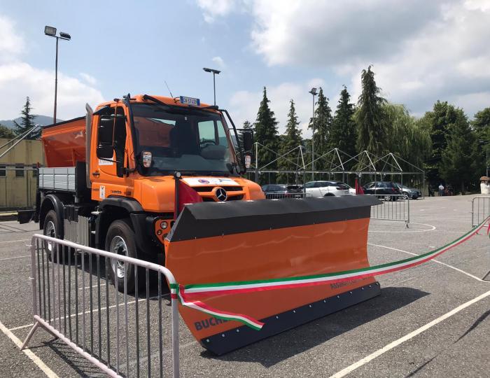 Patto per la Valbormida: presentazione nuovo automezzo polifunzionale per la manutenzione stradale