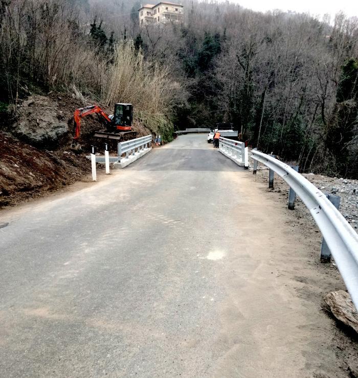 SP 542, terminati i lavori di messa in sicurezza sul ponte al Km22+030
