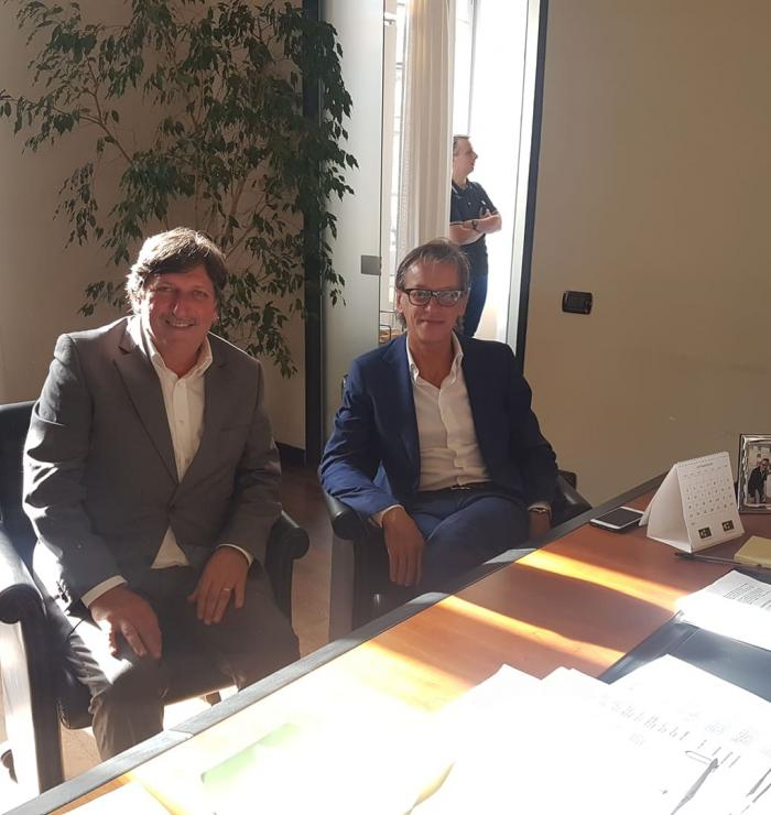 Albenga, il vicepresidente provinciale Francesco Bonasera e il sindaco di Albenga Riccardo Tomatis