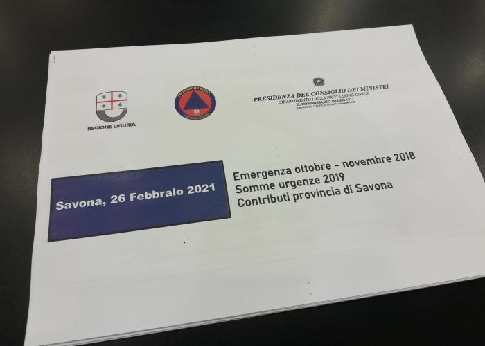Riunione Regione-Provincia-Comuni inerente il Piano triennale degli stanziamenti destinati ai Comuni del terrtorio Provinciale a seguito degli eventi calamitosi del 2018 e 2019