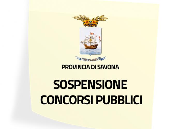 Sospensione concorsi pubblici