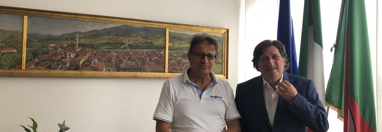 Vicepresidente Francesco Bonasera e il Sindaco di Cairo Montenotte Paolo Lambertini