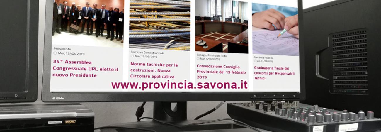 Online il nuovo portale della Provincia di Savona