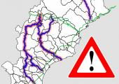 Mappe interattive dei percorsi alternativi alla SP 29 del Colle di Cadibona
